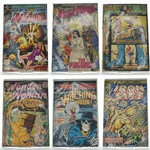 Lot of 6 Vintage Comics: Man-Thing Wonder Woman Justice League Superman Batman