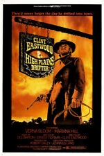 High Plains Drifter Movie POSTER Clint Eastwood WESTERN Rugged 24X36 PRIZED