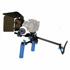 Camcorder DSLR Shoulder Mount Rig Support 2 Hand & Follow Focus & Matte Box