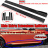 78.7'' Universal Glossy Black Side Skirt Extensions Rocker Panel Splitters Lip