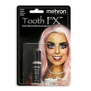 Mehron Paint Brush On Tooth White Teeth Whitening FX White Theatrical Makeup USA