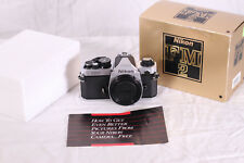 Nikon FM2 Silver 35mm SLR Film Camera From JAPAN NM/EXCELLENT++ in Box & Manual