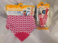 BooginHead Teether Bib & Pacigrip, Pink Hearts, BPA, PVC & Phthalate FREE