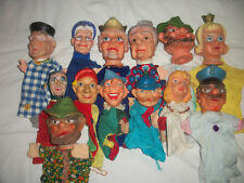 Lot of 13 Rubber Hand Puppets Disney & Characters All Good Condition Collection