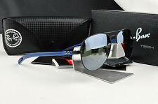 NEW RAY-BAN RB 8307 006/40 3N CARBON FIBRE TECH Sunglasses Mirrored Silver Lens