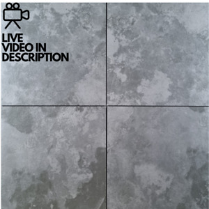 Grey Textured Stone Effect 60x60cm Porcelain Wall And Floor Tiles 10m² Job Lot