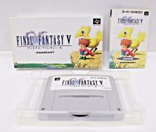 FINAL FANTASY 5 -- Can backup. Boxed. Super famicom SNES. Japan game. 13056
