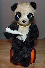 Vintage Mechanical Battery Operated Soda Drinking Panda Bear Japan Works Great