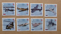 2018 ISLE OF MAN 100 YEARS RAF SET OF 8 MINT STAMPS MNH