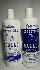 CABELLINA SHAMPOO AND CONDITIONER DEL CABALLO HORSE 32 FL OZ ALL HAIR TYPES
