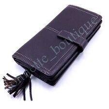 "Talbots Leather Dark Brown Bi-fold Wallet 7.5"" x 3.5"" EXUC"