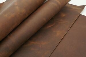 Crazy horse rustic leather sheets in  chestnut brown 1mm/2oz. Strong, oil tanned