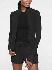 Athleta Shanti Jacket Black Full Zip Fitted NWT $128 M Medium
