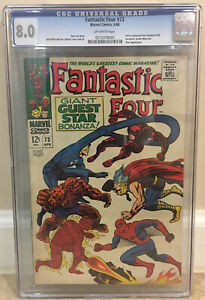 FANTASTIC FOUR #73 CGC 8.0 DAREDEVIL SPIDER-MAN THOR APP CONTINUED FROM DD #38