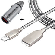 KFZ Autoladegerät + 1m USB Ladekabel für iPhone 6 iPhone 7 iPhone 8 iPhone X Set