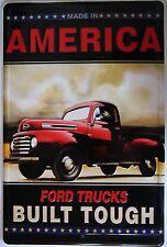 American Ford Trucks Embossed Metal Sign