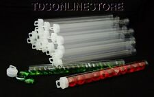 Jumbo Size Round Clear Plastic Storage Tubes 9