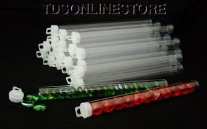 """Jumbo Size Round Clear Plastic Storage Tubes 9"""" x 5/8"""" Package of 25"""