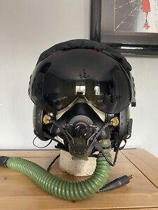 RAF Jaguar Pilot Mk4 Flying Helmet & P Type Oxygen Mask Fast Jet Size Large