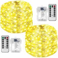 2 Pack LED Rope Lights, StillCool Remote Control 49ft 150 LED Battery Powered