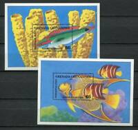 39083) Grenada Grenadines 1994 MNH New Fish S/S X 2