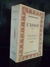 DOSTOIEVSKI L'IDIOT ROMAN I REMIZOV-V.ANDRE/DU CHENE 1947 TBE IN 12