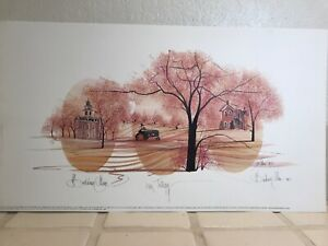 """P. Buckley Moss Signed Numbered Limited Print """"Iowa Trilogy"""" '96 Tractor College"""