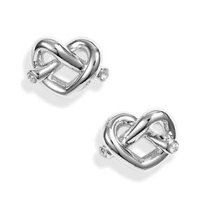 Kate Spade Loves Me Knot Stud Earrings Silver
