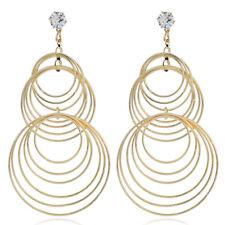 1 Pair Big Circle Silver Gold Hoop Earrings Women's Rings Ear Fashion Jewelry