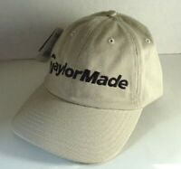 TAYLORMADE Tan Khaki Cotton GOLF Hat Ball Cap Mens Size OSFA NEW NWT