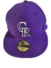 New Era Colorado Rockies 59Fifty Fitted Hat (Purple) MLB Cap 7 3/4.