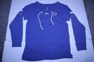 Women's Indianapolis Colts L Sweater (Blue) Antigua