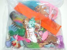 Grab Bag Lot of Vintage 80's Goodies Plastic Toy Combs Trolls Mini Figures Brush