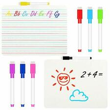 10 Pieces Dry Erase Ruled Lap Boards Set Includes 2 Double Sided Dry Erase Bo