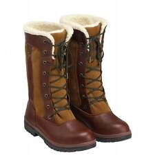 Caldene Estate Country Boots Brown Ladies 3/4 Length Size 3 UK 35.5 Shoes