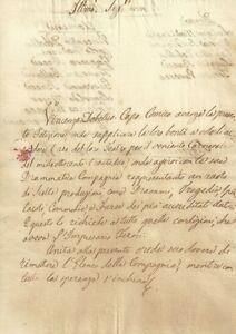 Lettera Compagnia Vincenzo Debellis Teatro dei Solleciti Firenze per Carnevale