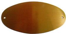 Targhetta in ottone ovale 14 x 7 cm (uffici, portoni, porte camere) (incisione)