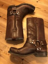 Mezcalero Mid Brown All Leather Mexican Cowboy Riding Boots Size 38/5-Excellent