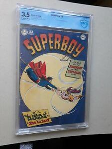 SUPERBOY 5 CBCS 3.5 1ST supergirl !! 10c NOT CGC 1949