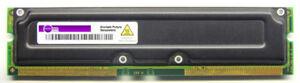 128MB Elpida Non-Ecc PC800 MC-4R128FKE6D-845 Rambus Rimm / HP P2145-63001