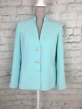 Debenhams Women's Blazer Jacket Smart Button Long Sleeve Blue UK Size 10 US 6