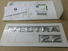 "Emblem/Logo ""VECTRA 2.2"" Opel VECTRA B  177222/9196542 neu original OPEL"
