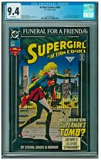 Action Comics Superman #686 CGC 9.4 White Funeral for a Friend part 6 Supergirl
