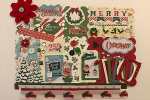 Santas Workshop Christmas Custom Chipboard Mini Book DIY Album Kit Scrapbook