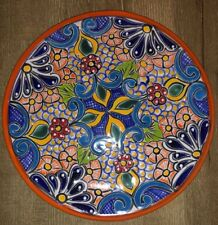 Talavera Mexican Pottery Plate Lead Free 11-3/4 Diameter Hand Painted Hand Made