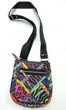 LILY BLOOM cross body Shoulder Bag Purse  w/ Zipper Closure multi color