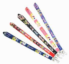 5 Pcs Mix Sailor Moon Cartoon Anime Lanyards Neck Straps Charms ID Card Holder