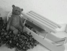Deko Schlitten aus Holz  Creme shabby chic Weihnachtsdeko Weihnachten Christmas