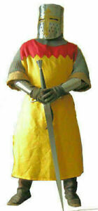 Yellow/Red Color Viking Medieval Tunic Costume For Armor Reenactment Theater