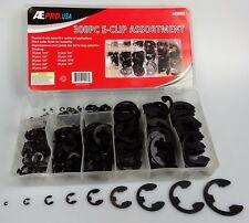 1.5-10mm Saipe 200pcs E-Clip Assortment Kit E-Clip External Retaining Ring Assortment Set 10 Sizes Circlip Snap Retainer Rings Opening Snap Ring Circlip Set with Box